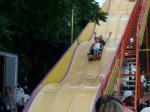 Coming down the big slide