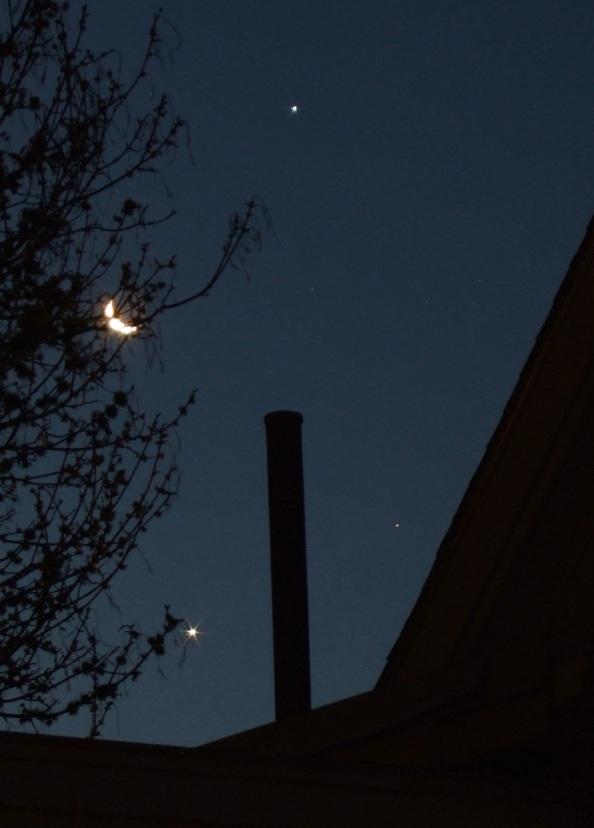 Quarter Moon Jupiter Aldebaran Venus