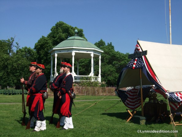 The Salem Zouaves perform their drill on Saturday in Lynn Common